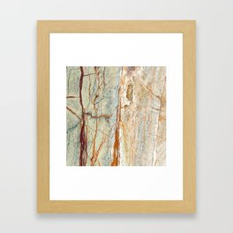 Colorful Textured Granite Framed Art Print