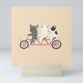 tandem bike Mini Art Print