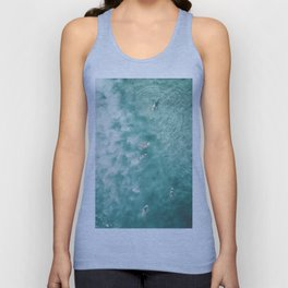 Surfing in the Ocean Unisex Tank Top