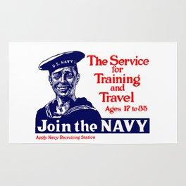 Join The Navy -- World War I Rug
