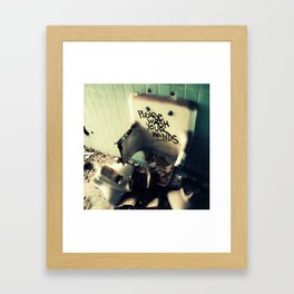 Wash Yr Hands Framed Art Print