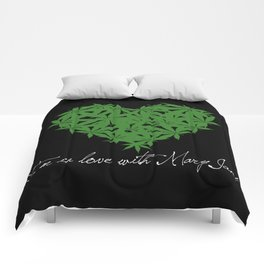 Mary Jane (white text) Comforters