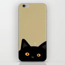 Curious cat iPhone Skin