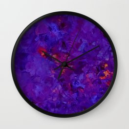 Pansies a fire Wall Clock
