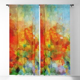 Abstract and Minimalist Landscape Painting Blackout Curtain