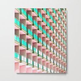 Pastel Repetition Metal Print