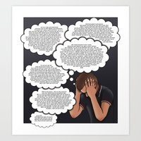 anxiety Art Prints featuring Anxiety by AdamSteve