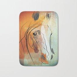 horse portrait Bath Mat