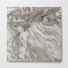 Marble Latte Metal Print
