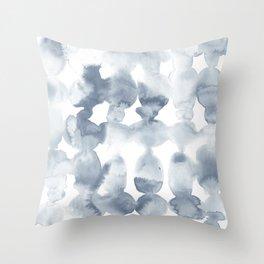 Dye Ovals Blue Fog Throw Pillow