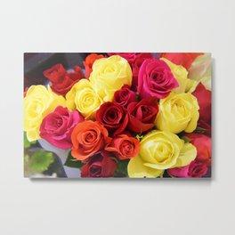 Colorful Roses II Metal Print