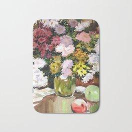 Asters. Bouquet. Flowers. Still-Life. Bath Mat
