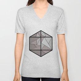 Graphic . 3 geometric shape gray Unisex V-Neck