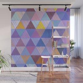 Meditative Lines on Purple #Geometric #Patterns Wall Mural