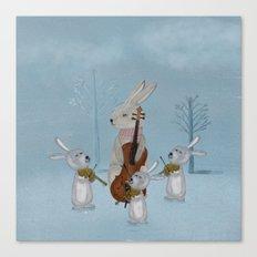 the bunny quartet Canvas Print