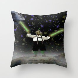 YODA-ling with FORCE - 027 Throw Pillow