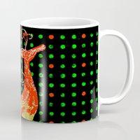 reindeer Mugs featuring Reindeer by Saundra Myles