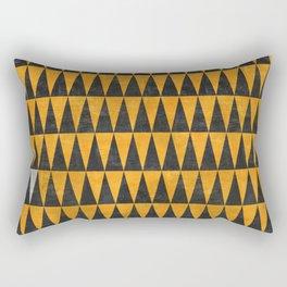 Triangles - White Rectangular Pillow