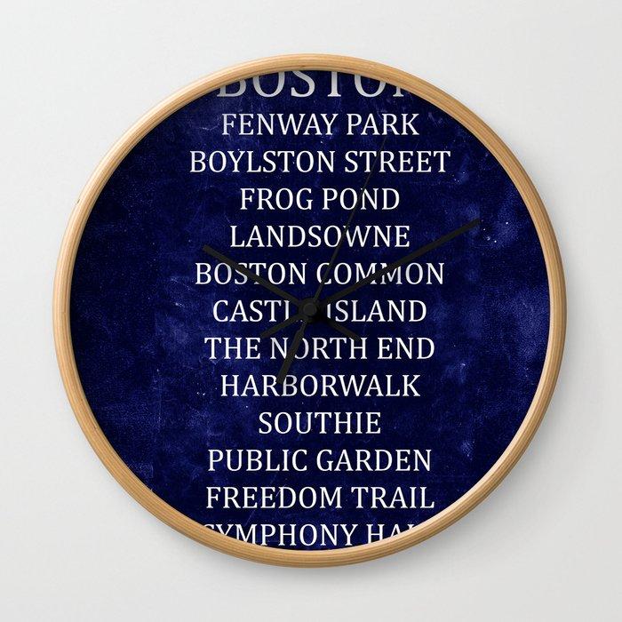 Boston 2 Wall Clock