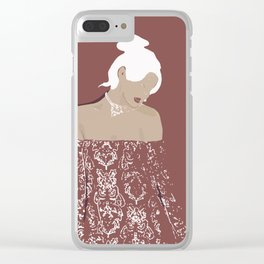 Lady amaranto Clear iPhone Case