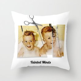 Tainted Minds Throw Pillow
