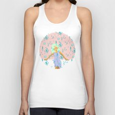 Design Based in Reality Pink Unisex Tank Top