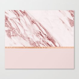 Alabaster rosa & rose gold on blush Canvas Print