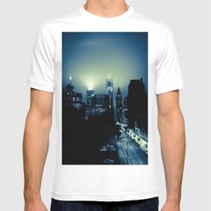 Philly glow MEDIUM Mens Fitted Tee White