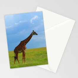 Lone giraffe Stationery Cards