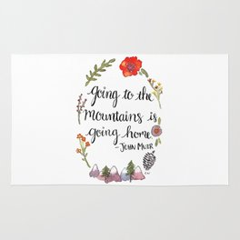 Going to the Mountains is Going Home Rug