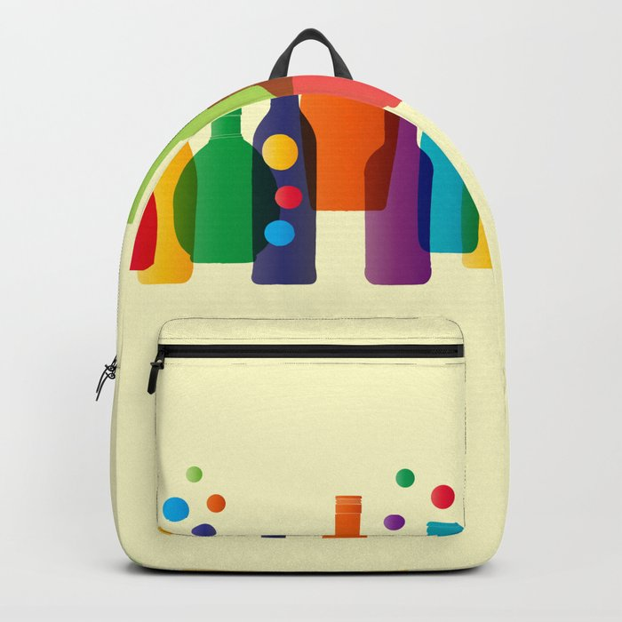 Colored bottles Backpack