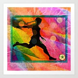Candy soccer girl Art Print