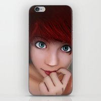 redhead iPhone & iPod Skins featuring Redhead by womoomow