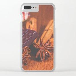 Seasonal Spice. Clear iPhone Case