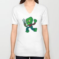 freddy krueger V-neck T-shirts featuring Gumby Krueger by Artistic Dyslexia