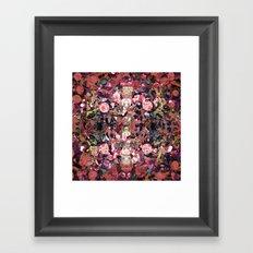 Pink Spot Floral Framed Art Print