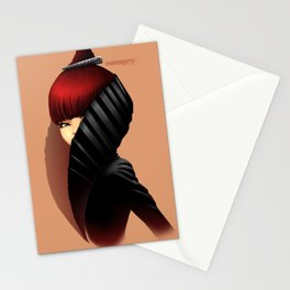 Renaissance Fashion portrait Stationery Cards