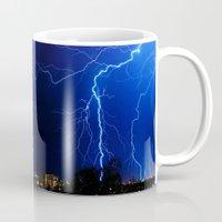 lightning Mugs featuring Lightning by pakowacz
