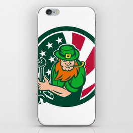Irish-American Mechanic USA Flag Icon iPhone Skin