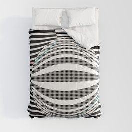 Deformed dots and lines Comforters