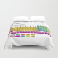 periodic table Duvet Covers featuring Periodic Table of the Elements by Fabian Bross