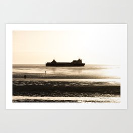Watching the ships go by Art Print
