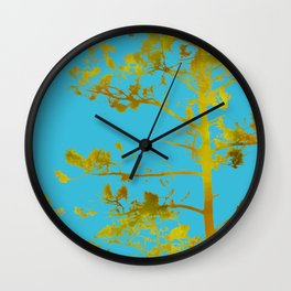 dreaming of japan: teal + gold Wall Clock