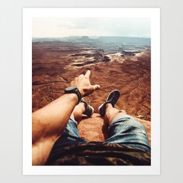 on top of canyonalnds Art Print
