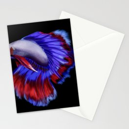 Beautiful betta fish (black version) Stationery Cards