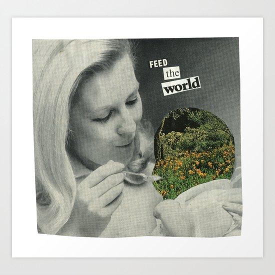Feed The World Art Print