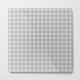 White Basket Metal Print