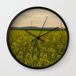 The yellow Wall Clock