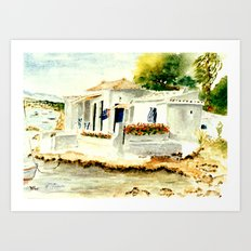 White House on the Beach Art Print