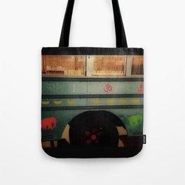 Lotus Bus Upclose Tote Bag